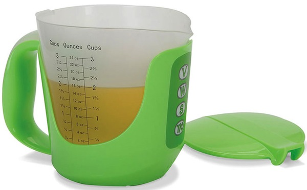 Talking Measuring Cup Speaks Volumes