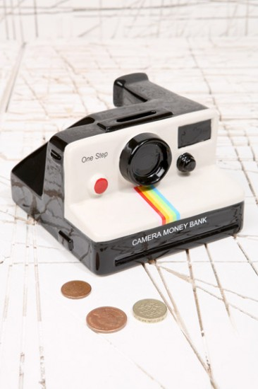 White Polaroid Money Bank