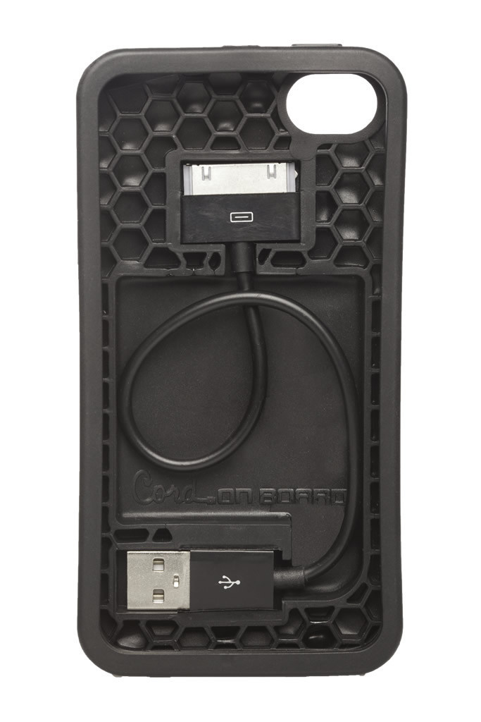 Cord On Board Black Ultra Lightweight iPhone 4S Case