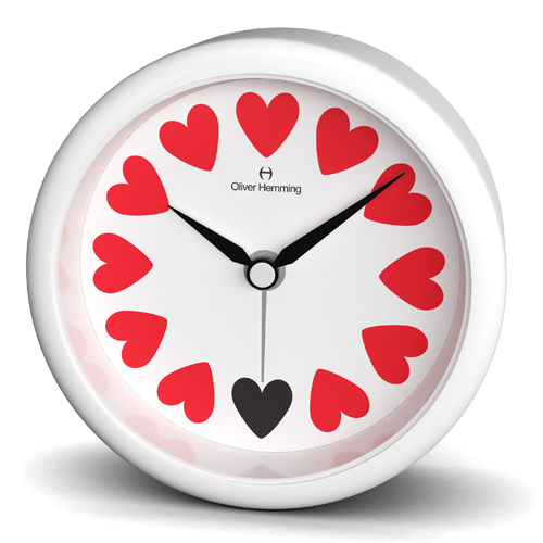 Oliver Hemming Desire Acrylic Heart Alarm Clock