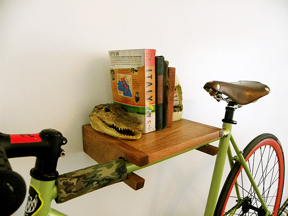 Bike rack bookshelf 04