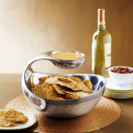 Nambe Scoop Chip and Dip Server
