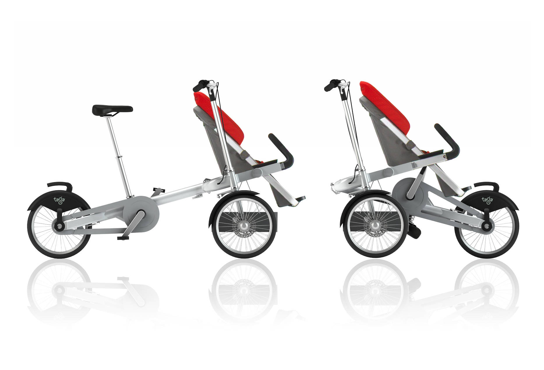 Taga Convertible – Bike and Baby Stroller – Daily Cool Gadgets