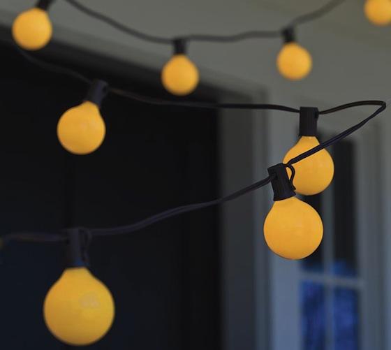 Bugs Away Yellow Globe String Lights