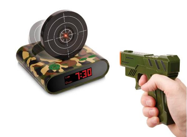 Lock N' load target alarm clock