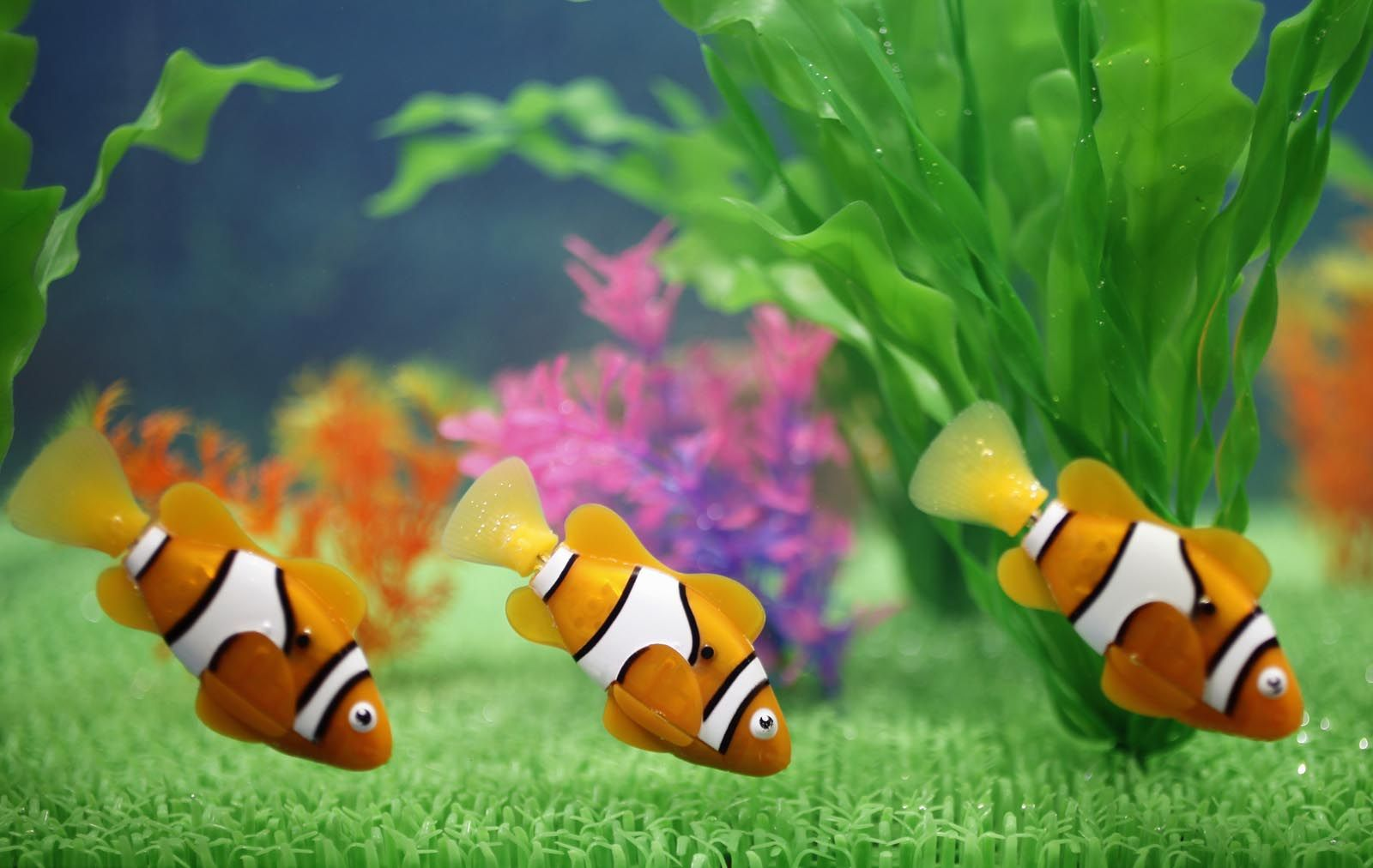 Robo Fish Electronic Pet Fish Orange Clownfish Nemo