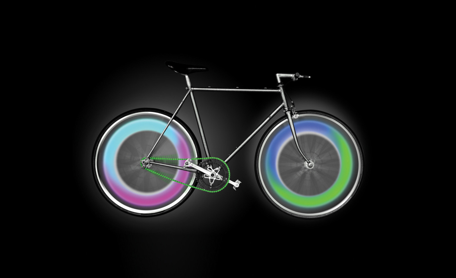 Bike Wheel LED Mood Lights by Mathmos