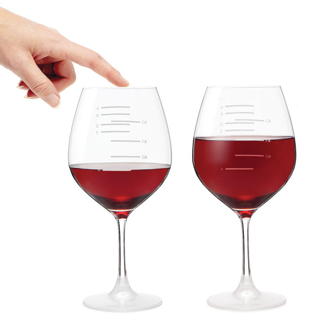Major Scale Musical Wine Glasses