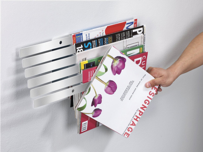 Illuzine Metal Wall-Mount Magazine Rack by Umbra
