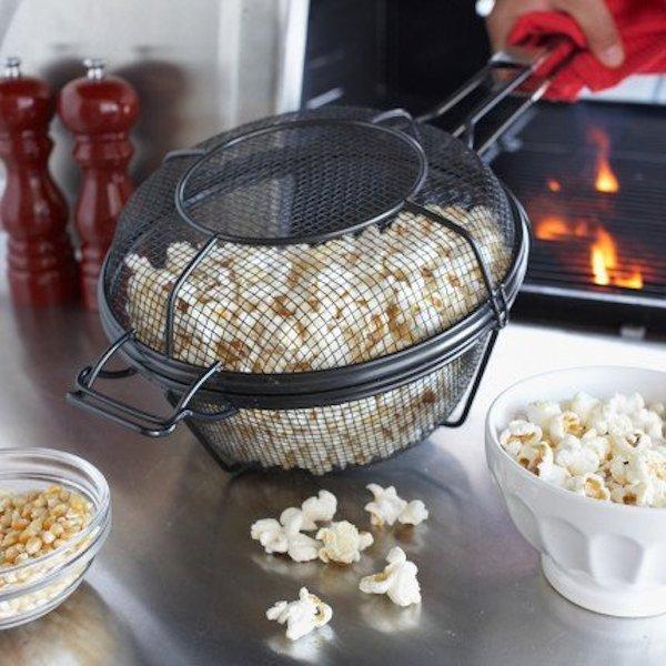 Nonstick Mesh Popcorn Grill Pan