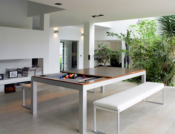 Fusion Pool Table And Dining Table Side View