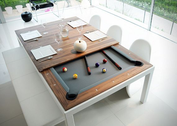 Fusion Pool Table And Dining Table Top View