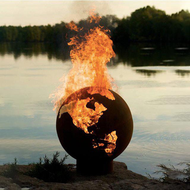 Earth Globe Fire Pit