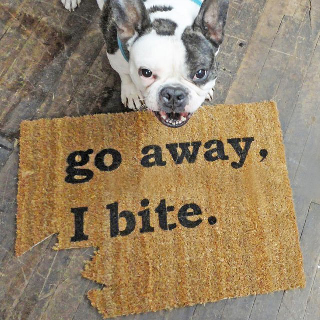Go Away, I Bite Doormat