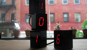 Numbers LED Clock by Jonas Damon