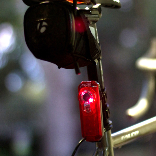 Cycliq Fly 6 Rear LED Light with HD Camera Mounted On Bike