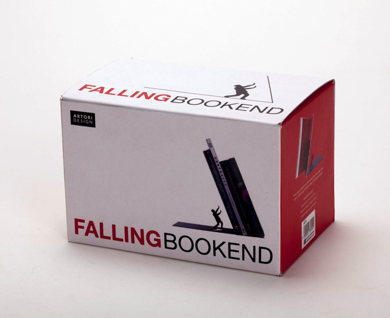 Falling Books Bookend Box