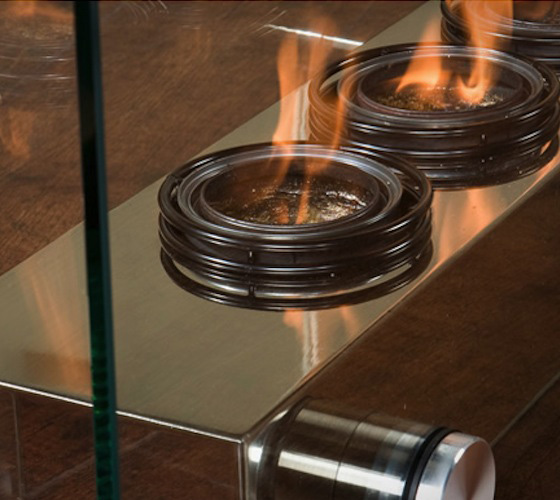 Portable Fireplace Close-up
