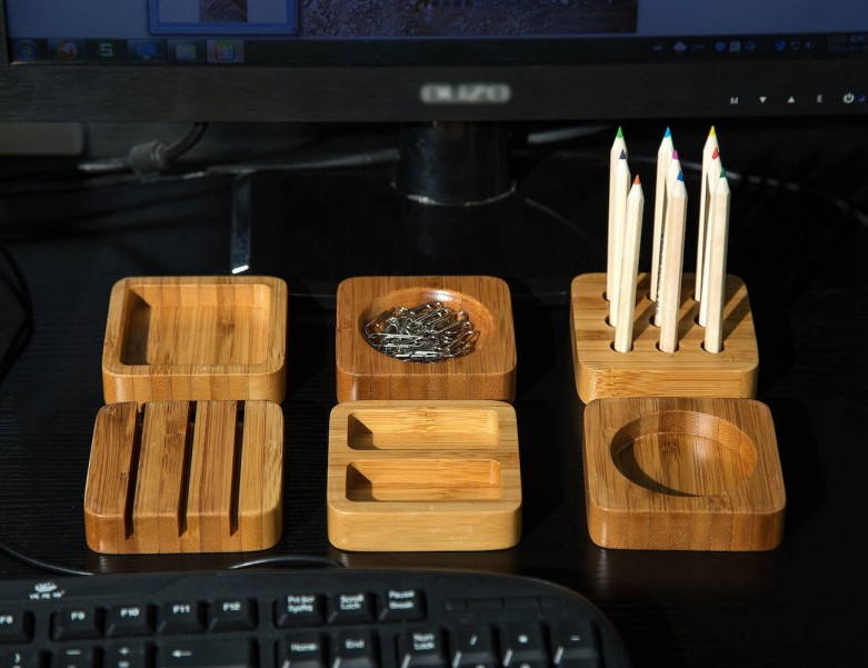Bamboo Desktop Organizer Blocks
