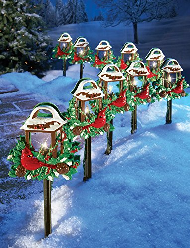 Cardinal holiday lantern path lights for Decoration exterieur pour noel