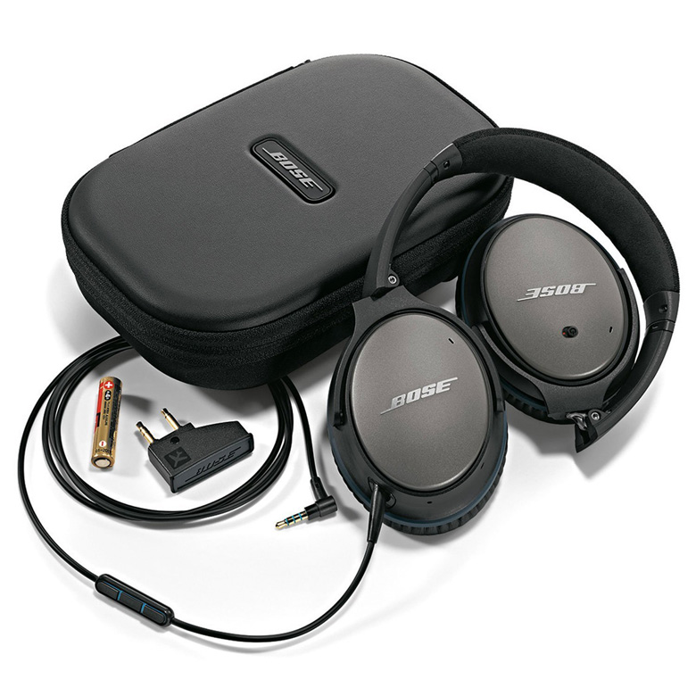 Bose QuietComfort 25 Noise Cancelling Headphones With Accessories