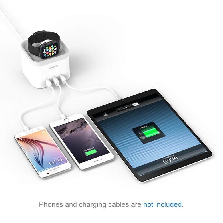 Simpeak 4-port USB Charging Dock Station
