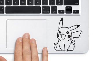 Pikachu Looking Up Pokemon Trackpad Apple Macbook Laptop Vinyl Sticker Decal