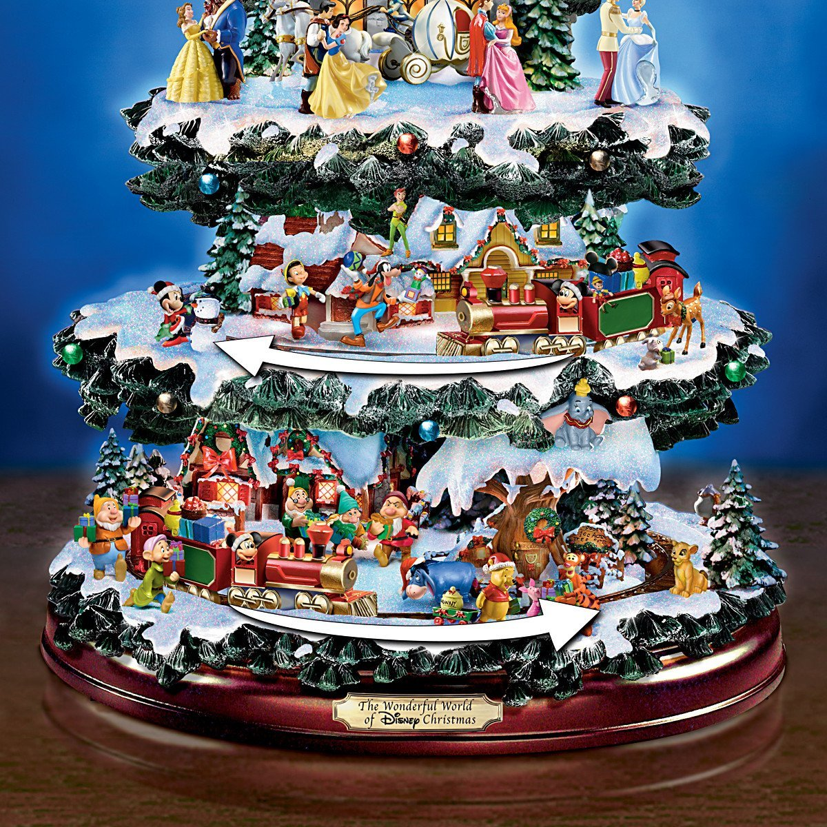 The Ultimate Disney 50 Character Tabletop Christmas Tree: Disney Tabletop Christmas Tree