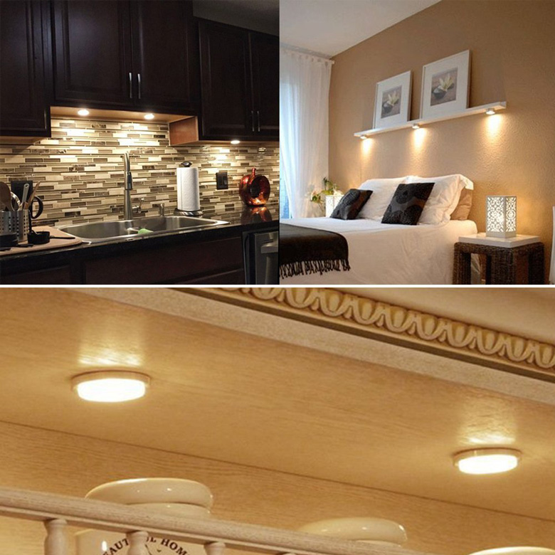 Led Puck Lights Under Cabinet Lighting Daily Cool Gadgets