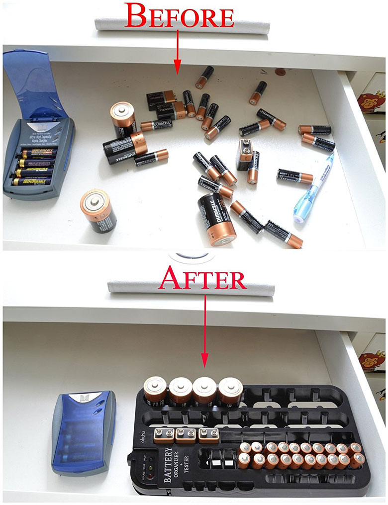 Ohuhu Battery Organizer