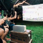 Dashbon Flicks Mobile Cordless Boombox Projector