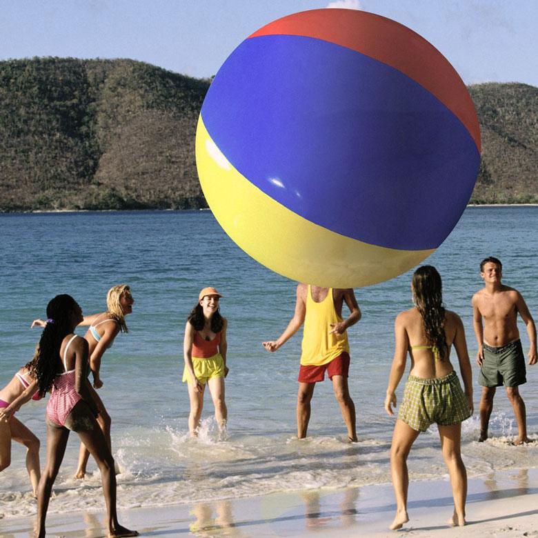 The Beach Behemoth Giant Inflatable 12-Foot Pole Ball