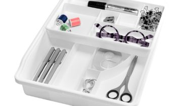 Junk Drawer Organizer with Removable Top Tray